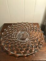 """Vintage Fostoria American Rounf 14"""" Serving Tray/Platter Clear Glass"""