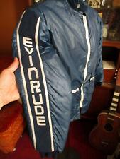 MEDIUM True Vtg 80's EVINRUDE BLUE NYLON BOMBER LINED WINDBREAKER Jacket
