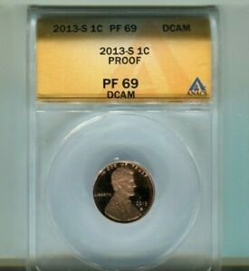 2013-S Lincoln Shield Cent - ANACS PF69 DCAM