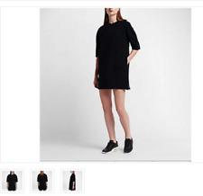 Nike NikeLab Essentials Tech Fleece Women's Dress - Size Small Black 824086 010