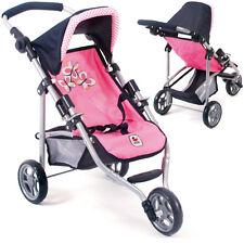 Bayer Chic 2000 Mini Puppenjogger Lola Pink Checker Puppenwagen Buggy für Kinder