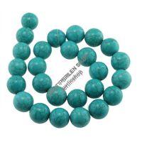 12 Türkis Perlen Edelstein Halbedelstein Kugeln 16mm Gemstone Beads BEST G713
