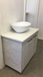 L700mm Bathroom vanity wall mounted cement was $259  now $239