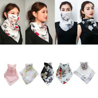 5x Frauen Halbgesichtsmaske Schal Hals Gamasche Mundschutz Sonnenschutz Silky