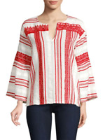 Joie Selbea Striped Top MSRP $278 Size L # 5B 671 NEW