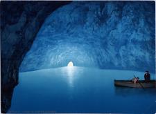 Italia, Capri. La Grotte Azzurra.  vintage print photochromie, vintage photoch