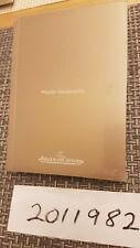 Jaeger LeCoultre Watch Instruction Manual Booklet for Master Geographic