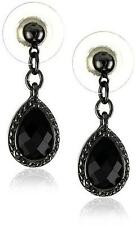 NEW 1928 Jewelry Black Victorian Mini Teardrop Earrings