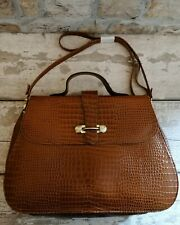 Vintage Brown Leather Handbag Cross Body Bag St. Michael Made in UK