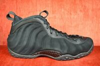buy popular 1e0a0 6ef1e WORN TWICE Nike Air Foamposite One PRM Black Suede 575420-006 Men s Size 9.5