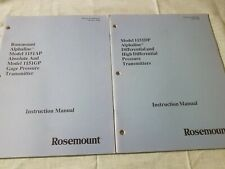 2 Rosemount Alphaline Pressure & Differential Transmitter Manuals 1151 Ap,Gp,Dp