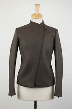 NWT BRUNELLO CUCINELLI Woman's Brown Wool Blend Bomber Jacket Size 4/40 $4735
