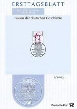BRD 2003: Maria Juchacz! Ersttagsblatt Nr. 2305 mit Bonner Sonderstempel! 1612