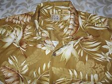 JOS A BANK ALL SILK DESIGNED SHIRT OF BROWN AND TAN SIZE M