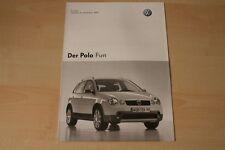 68621) VW Polo 9N Fun - Preise & Extras - Prospekt 11/2004