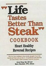 """life tastes better than steak"" Cookbook: Heart Healthy recipes back"