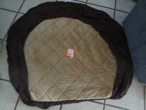 """KH Manufacturing Ortho Bolster Sleeper Dog Bed XL EGGPLANT PAWS 50"""" NO FILLING"""