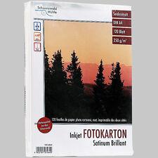 "Fotopapier: 120 Bl. Foto-Karton ""Satinum Brillant"" beidseitig A4"