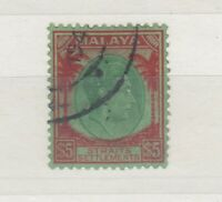 Malaya Straits Settlements KGVI 1938 $5 VFU JK101