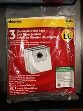 Shop Vac Vacuum Cleaner Bags Type LL pack of 3