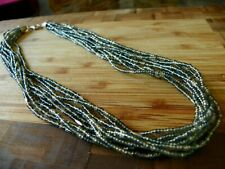Bead Sterling Silver Necklace ~ N2115 Silpada Gray Silver lined Glass Seed