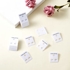 100PCS Plastic Jewelry Earring Display Card For Ear Stud Pendant White 38x30mm