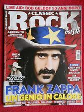 rivista CLASSIC ROCK 032/2015 Frank Zappa Aerosmith Faith No More Toto  No cd