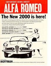 1960 ALFA ROMEO GIULIETTA COUPE / HOFFMAN MOTORS  ~  ORIGINAL PRINT AD