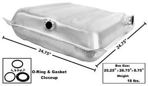 1955-56 Chevrolet BelAir, 150 & 210 Gas Tank Square Stainless New