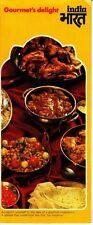 Gourmet's Delight India 1977 Vintage Brochure Bombai Dhansak Thali Tandoori
