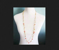 New NIB Premier Designs Jewelry Tangerine gold and pink crystal Necklace