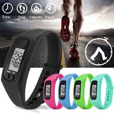 Run Step Watch Bracelet Pedometer Calorie Counter Digital LCD Walking Wristwatch