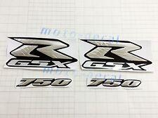 Raised 3D Chrome Suzuki GSX-R GSXR750 Streak Emblem Decal Silver Sticker Bling