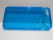 apple iphone 5, 5s,Soft silicone Blue Case,BOGO-,incl 2 screen- US seller- fast