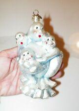 "Christopher Radko Halloween Ornament Ghost Family 6"""