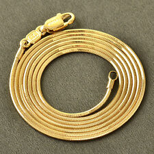.10K Rose Gold Filled GF Smooth Snake Bone Chain Necklace 60.5cm Long 1mm Round
