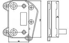 NRF Radiador de aceite motor Para MERCEDES-BENZ VITO 31183
