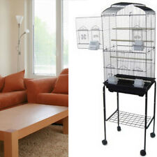 New Tall Cockatiel Parakeet Finch Canary Bird Cage With Black Stand 1703-682