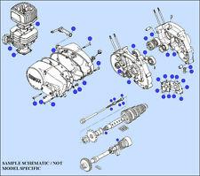 Hodaka 281xxx Engine Rebuild Pkg - All 100-125cc Bearings Seals O Rings Gaskets