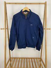 RARE VTG Izod Lacoste Men's Plaid Lined Alligator Harrington Golf Zip Jacket M
