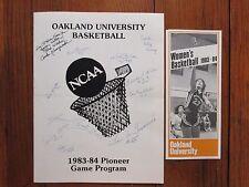 1983 Oakland Un Women's Basketball Program(11 Sign/SUE KRUSZEWSKI/BRENDA McLEAN)