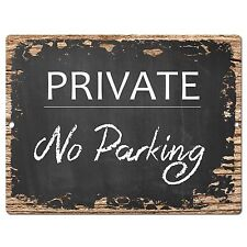 PP0413 PRIVATE No Parking Plate Sign Cafe Store Shop Restaurant Office Decor