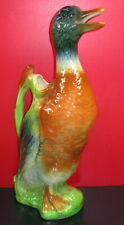 Ancien pichet en barbotine canard Saint-Clément - Vintage duck 33 cm