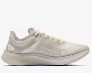 Nike Zoom Fly SP Light Bone White Men Running Training Shoes sz 10.5 AJ9282-002