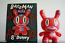 "Kidrobot Designer Toy  DUNNY 8""  GARY BASEMAN 2005 RED 8"""