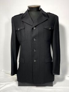 Miu Miu 40S Black Men's Jacket with Lapel Detail ~ Made in Italy