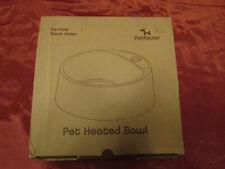 Petfactor 2.2L Heated Pet Bowl Waterproof Outdoor Dog Cat Thermal Water Bowl NEW