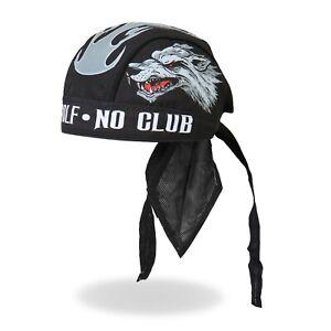Lone Wolf No Club Motorcycle Biker Rider Tattoos Bandana Headwrap Cap HWH1041