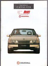Vauxhall Cavalier 1991-92 UK Market Brochure GSi Diplomat CD SRi GL L Base 4x4