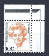 Bund Mi-Nr 1955 Ecke 2 (100 pf) Fr. dt.Gesch. E. Schwarzhaupt ** Postfrisch 1997